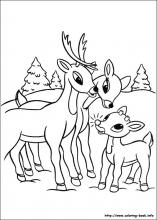 rudolph the red nosed reindeer coloring page # 18