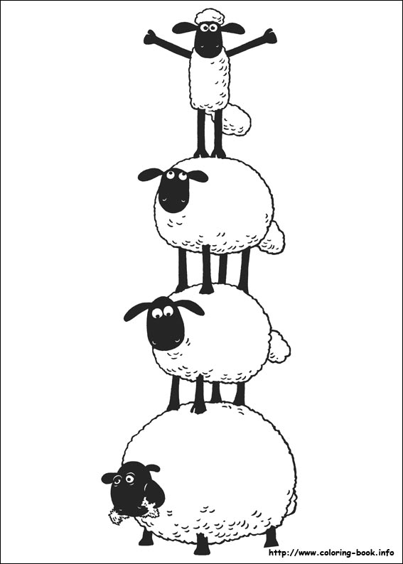 shaun the sheep coloring pages on coloring book info