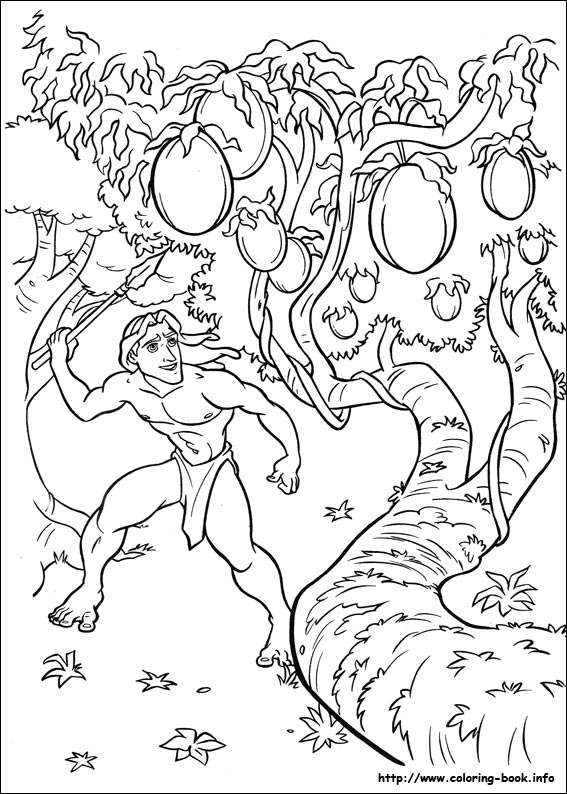 Free disney tarzan printables coloring pages and - Tarzan coloriage ...