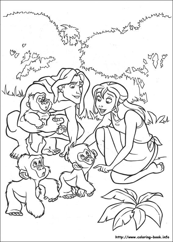 coloring pages tarzan - photo#3