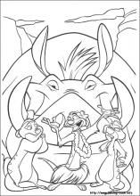 lion king coloring page # 24