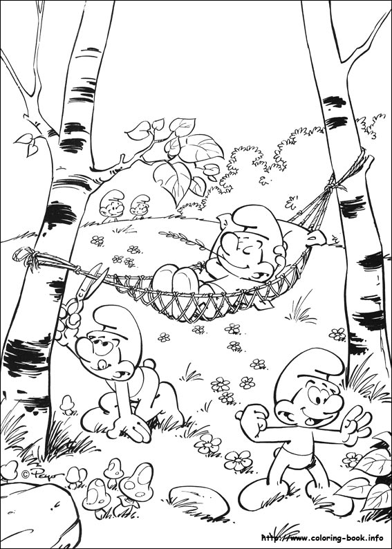 the smurfs coloring pages on coloring book info