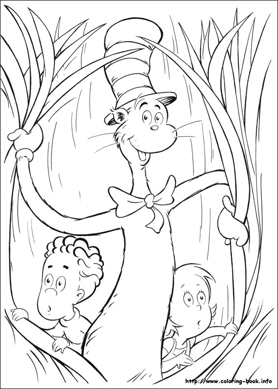 The Cat In The Hat Coloring Picture
