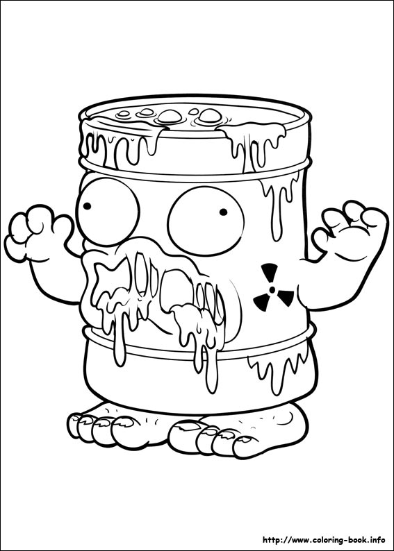 Long weekend colouring in activities just happy homes for Trash pack coloring pages to print