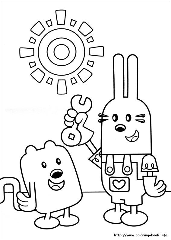 wow wow wubbzy coloring pages # 2