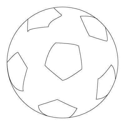 Soccer Ball Coloring Sheet Coloring Drawing