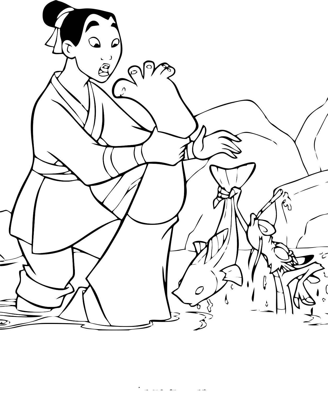 Mulan 29950 Mulan Coloring For Kids
