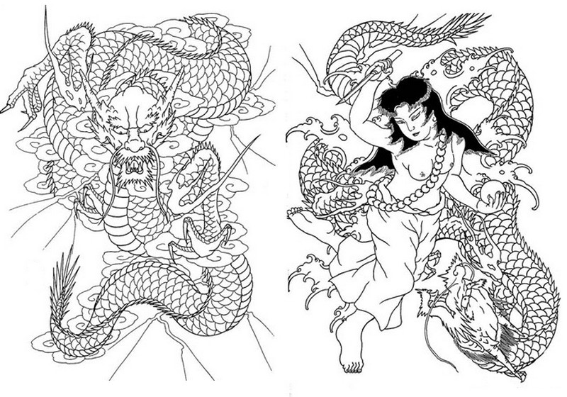 Art Therapy Coloring Page Japan Japan Snakes 12