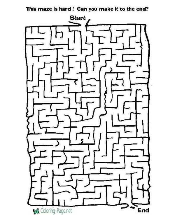 maze coloring pages # 2