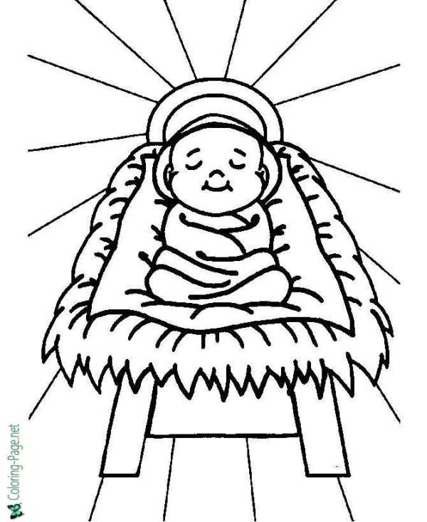 baby jesus coloring page # 8