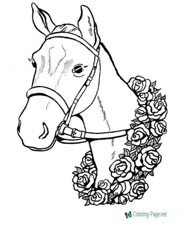 realistic horse coloring pages # 13