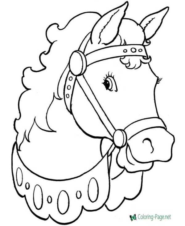 horse coloring pages # 2
