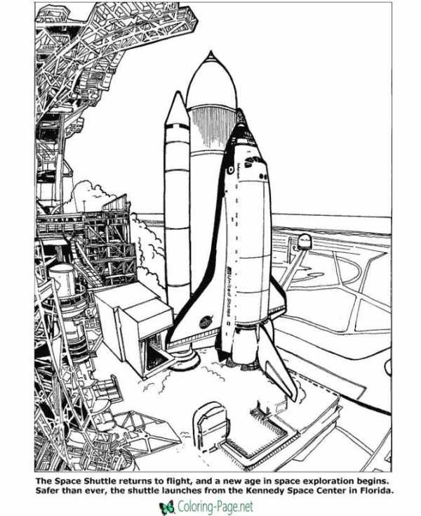 space coloring page # 14