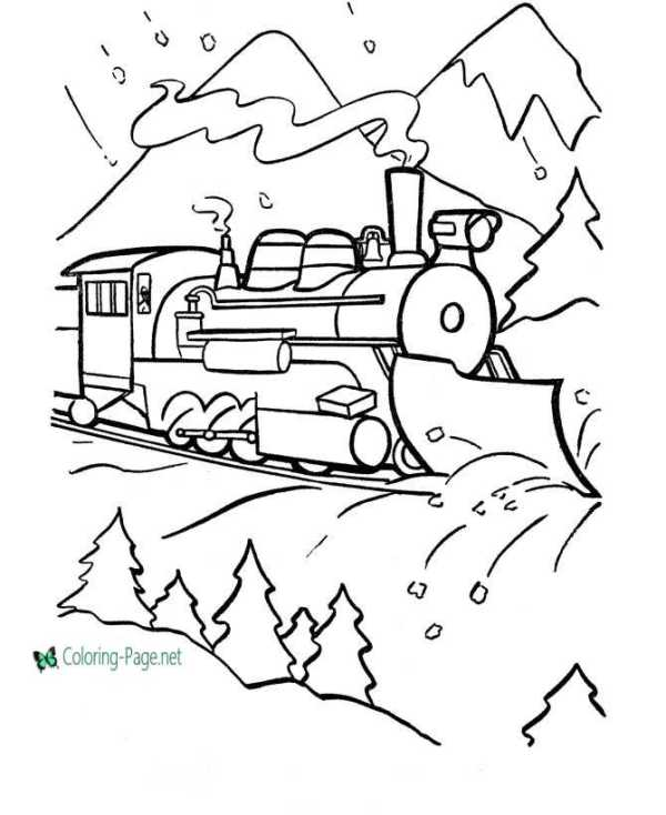 train coloring pages printable # 35