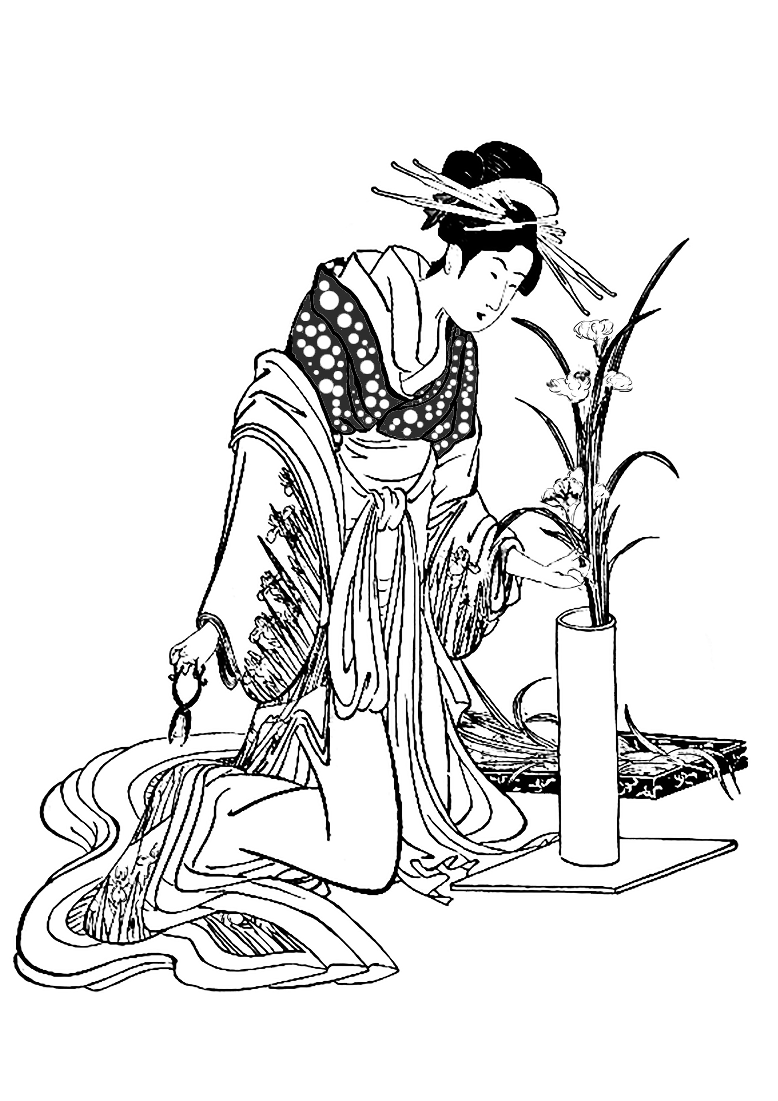 japan coloring pages for adults