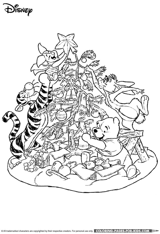Pooh Thanksgiving Winnie Coloring Pages