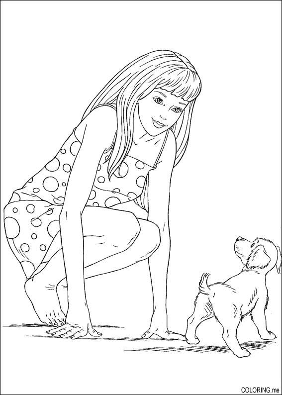coloring pages baby dogs coloring page barbie and