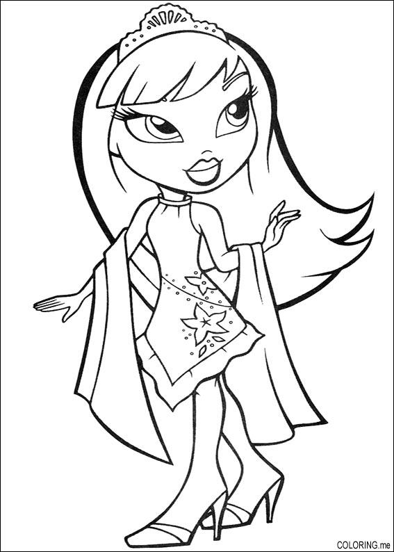 Coloring Page Bratz The Princess Coloringme