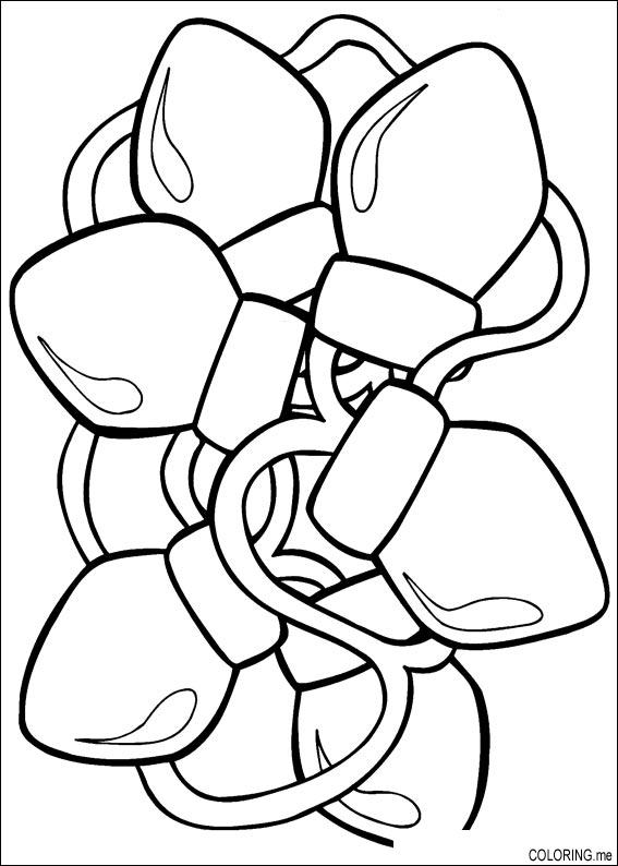 coloring page christmas light coloring me