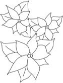 mistletoe and poinsettia coloring pages