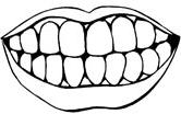 teeth coloring page # 5