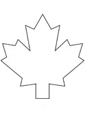canadian maple leaf coloring page