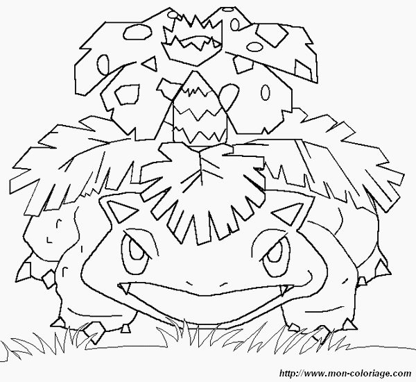 coloring pokemon page ivysaur