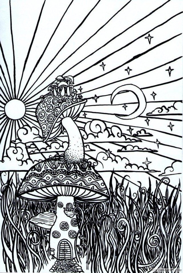 psychedelic mushroom coloring pages Coloring28free - Coloring28Free.com