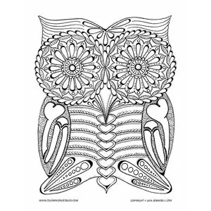 Owl Skeleton Day Of The Dead Coloring Page