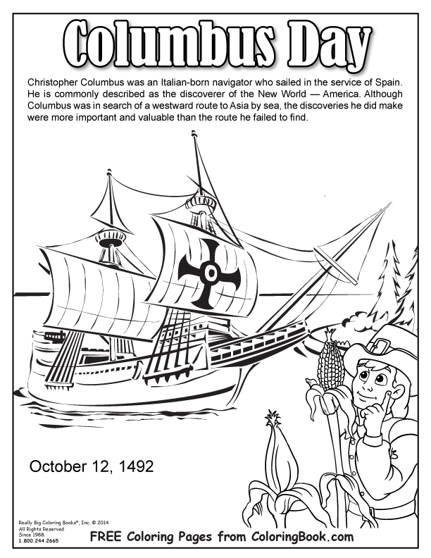 coloring books columbus day free online coloring page