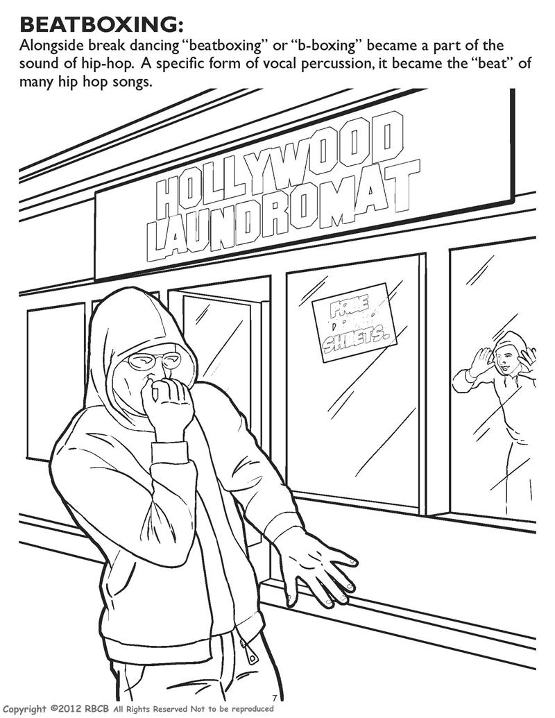 Hip Hop Dance coloring pages | Dance coloring pages, Hip hop ... | 1035x800