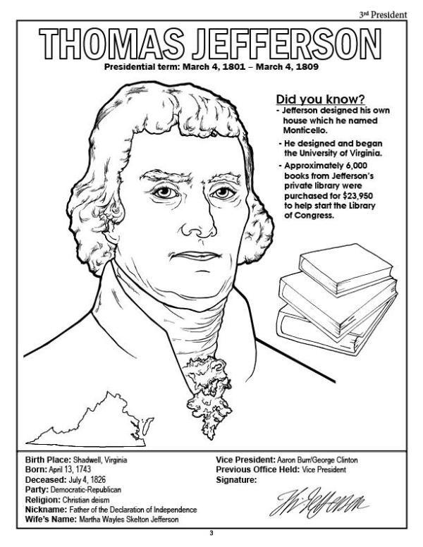 presidents coloring pages # 4