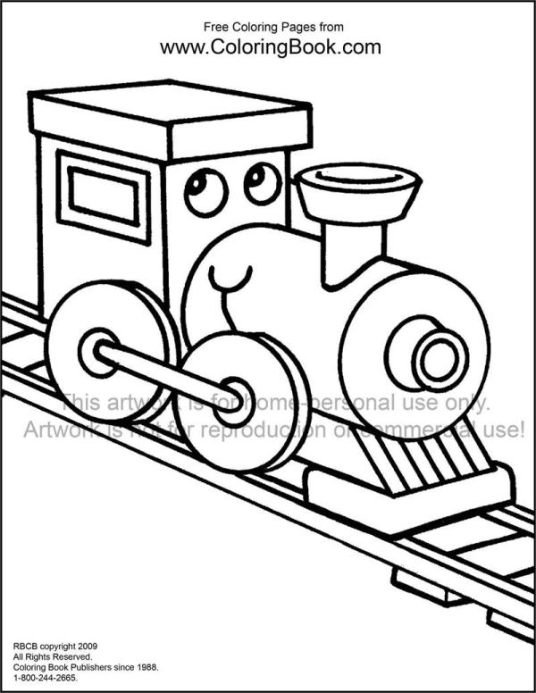 train color pages free printable # 57