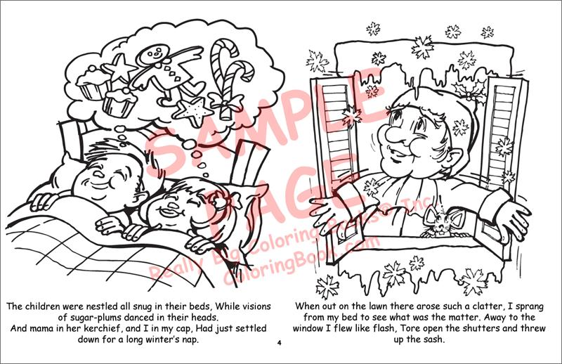 night before christmas laptop coloring books 17 quot wide x 11 quot tall