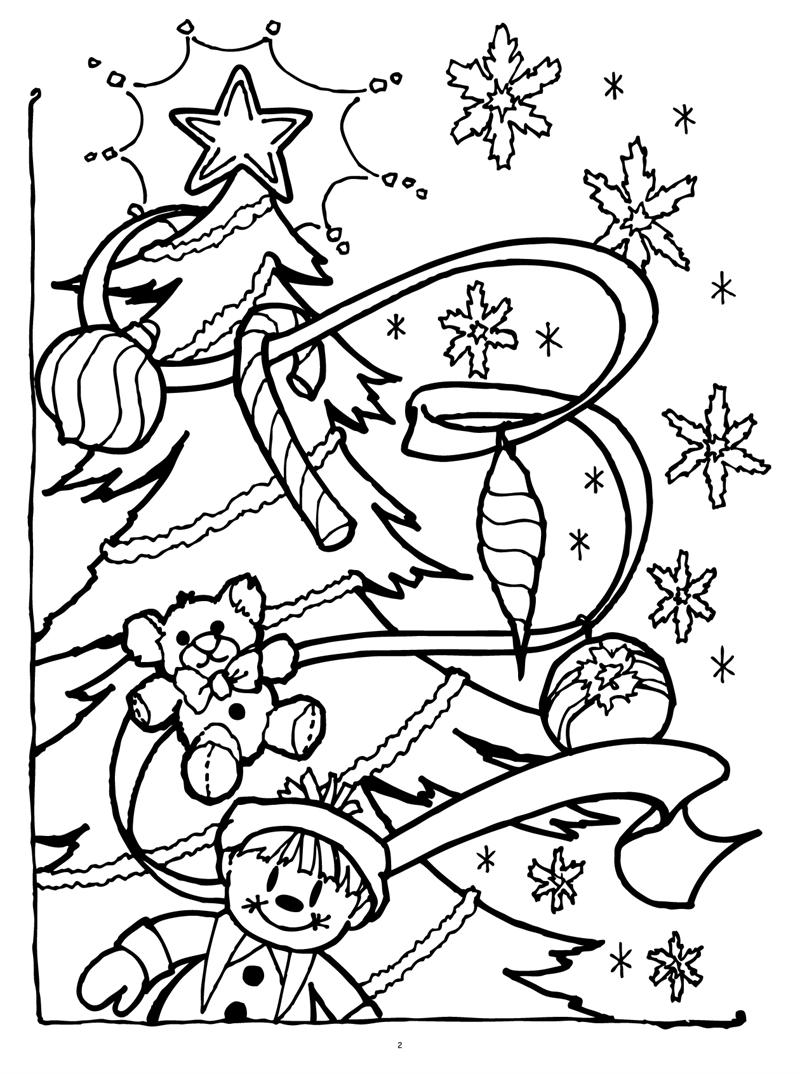 christmas coloring pages free | 1074x800