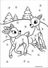 rudolph the red nosed reindeer coloring page # 73