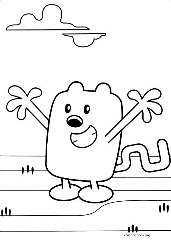 wow wow wubbzy coloring pages # 3