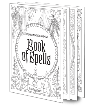 Books Coloring Book Of Shadows