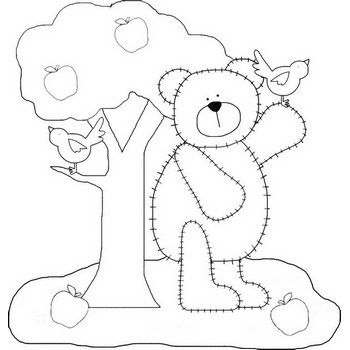 Bear Coloring Pages Adorable Scruffy Bears To Color