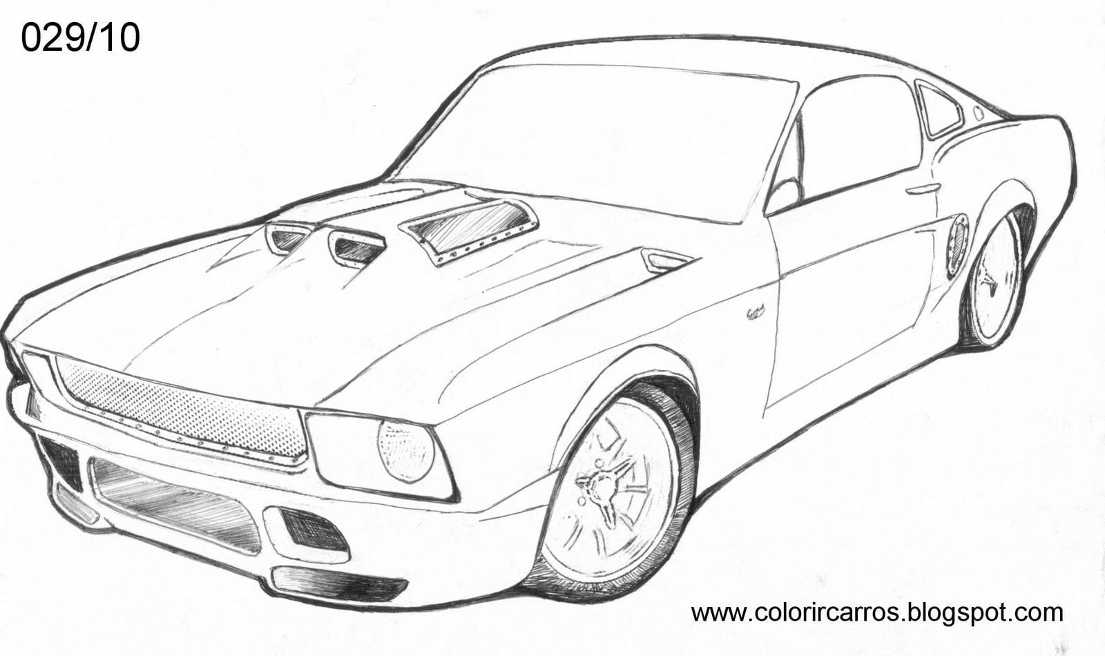 Desenho De Carros Para Colorir E Imprimir