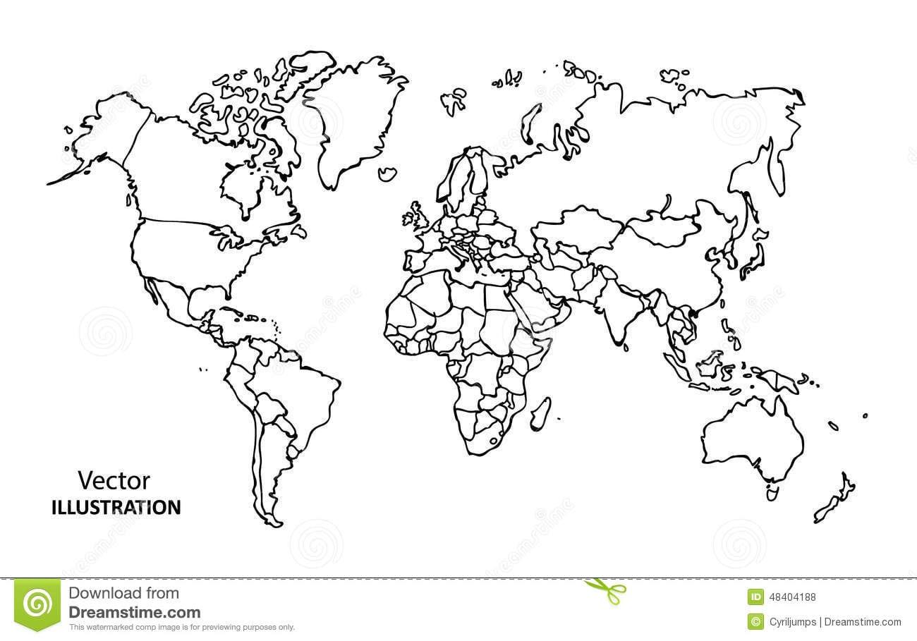 Desenhos Do Mapa Mundi