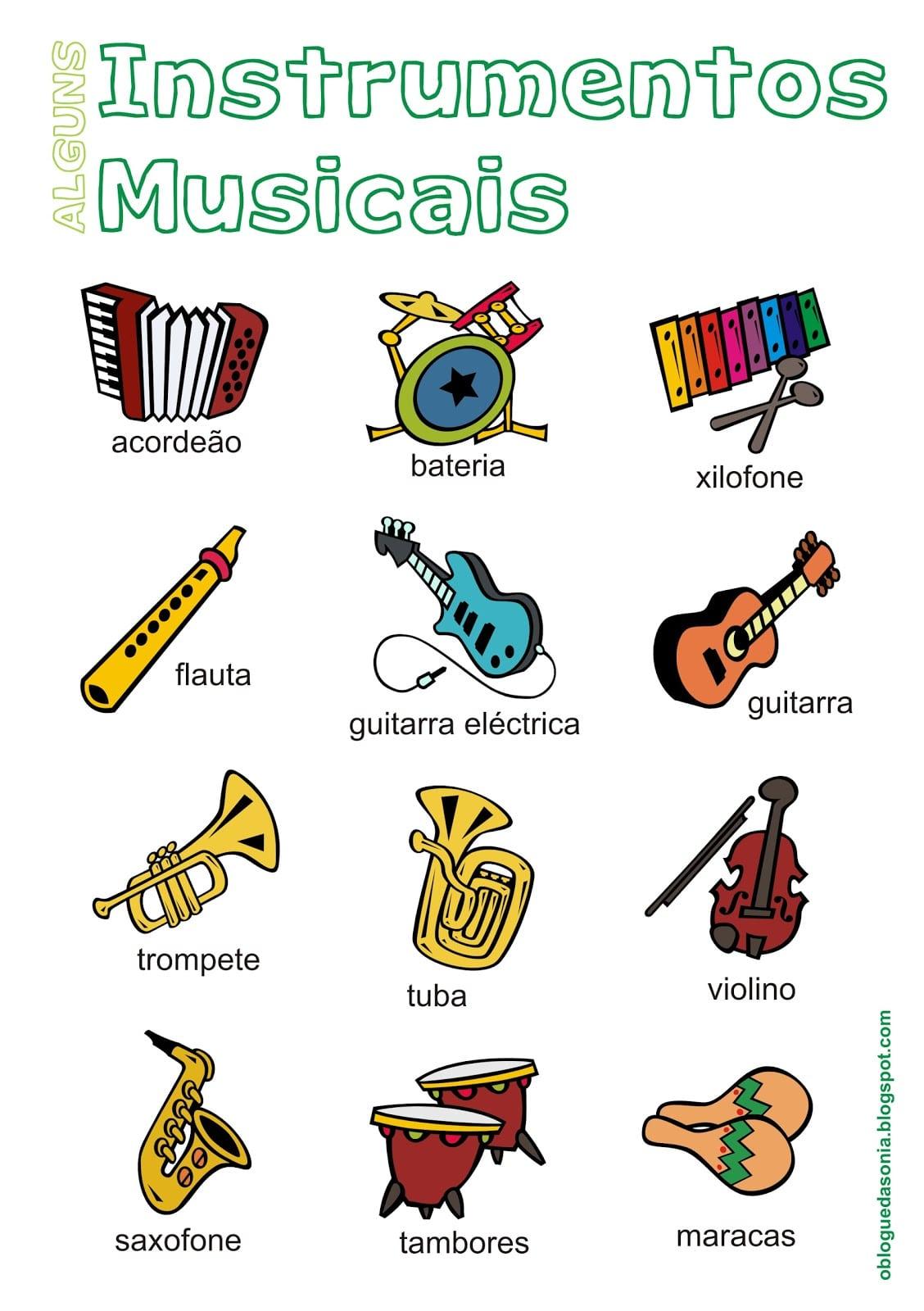 Imagens De Instrumentos Musicais Para Imprimir