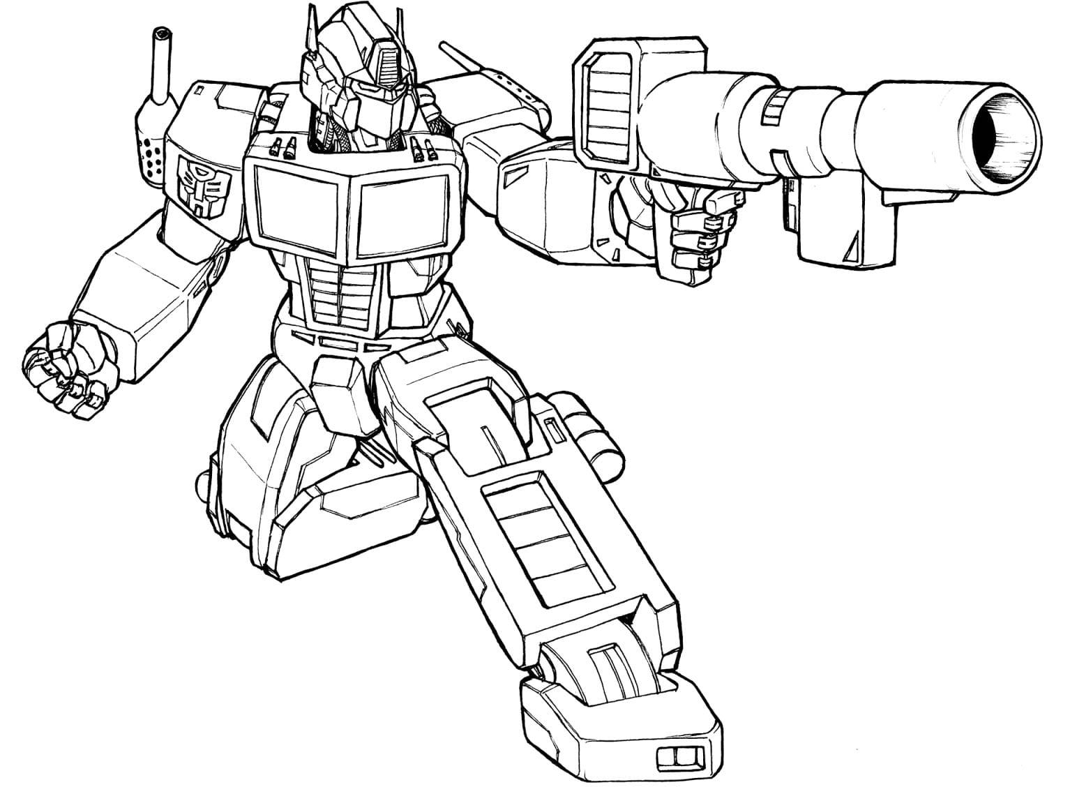 Desenhos Dos Transformers Para Colorir Pintar Imprimir