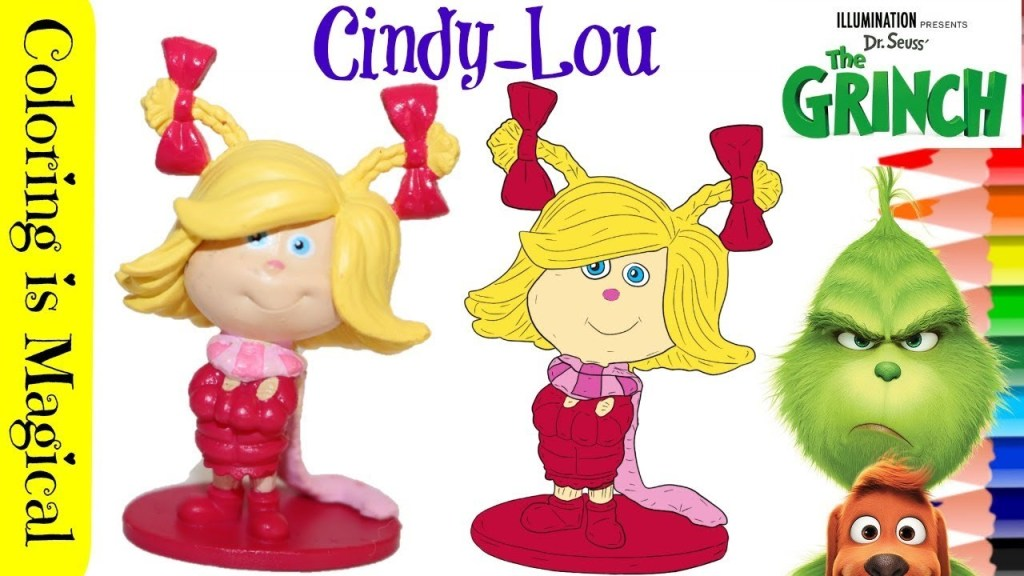 Cindy Lou Coloring Page Dr Seussthe Grinch Illumination Coloring Video