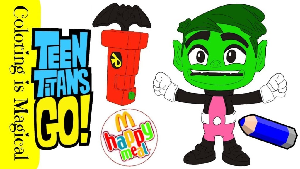 Teen Titans Go Coloring Pages For Kids — Mister Coloring | 576x1024