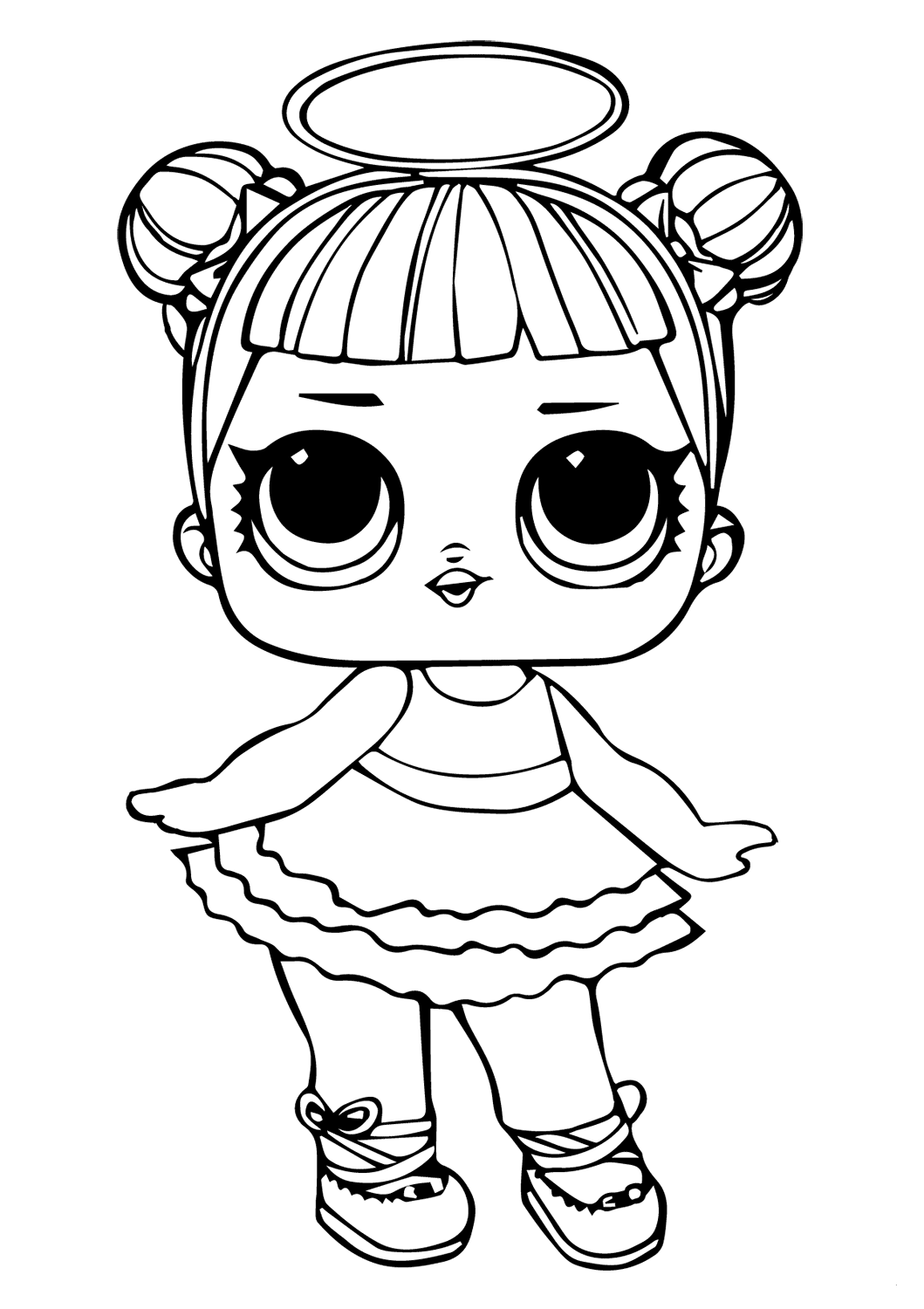Lol Doll Coloring Pages Sugar Series 1 Surprise Queen Bee Free