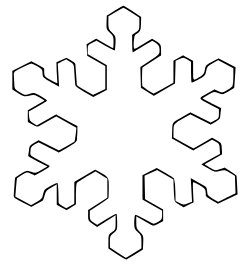 snowflake coloring page druntk