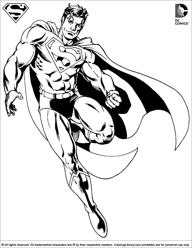 Superman Coloring Page That You Can Print Coloring Library