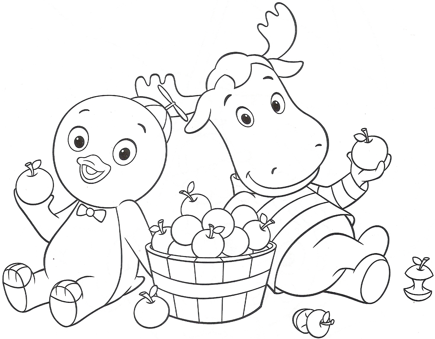 backyardigans coloring pages printable az for kids - Backyardigans Coloring Pages Print
