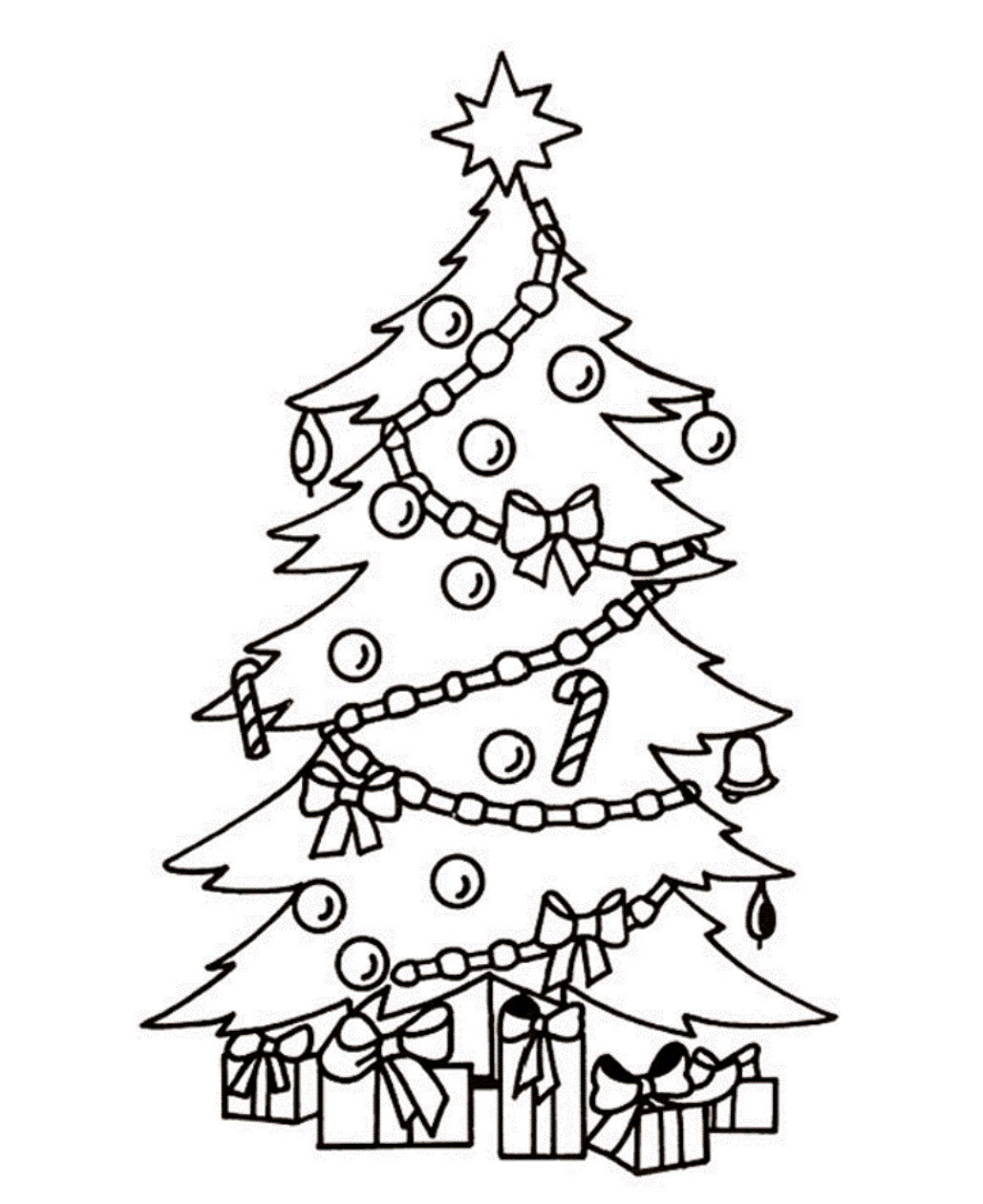 christmas tree color page printable christmas tree coloring pages